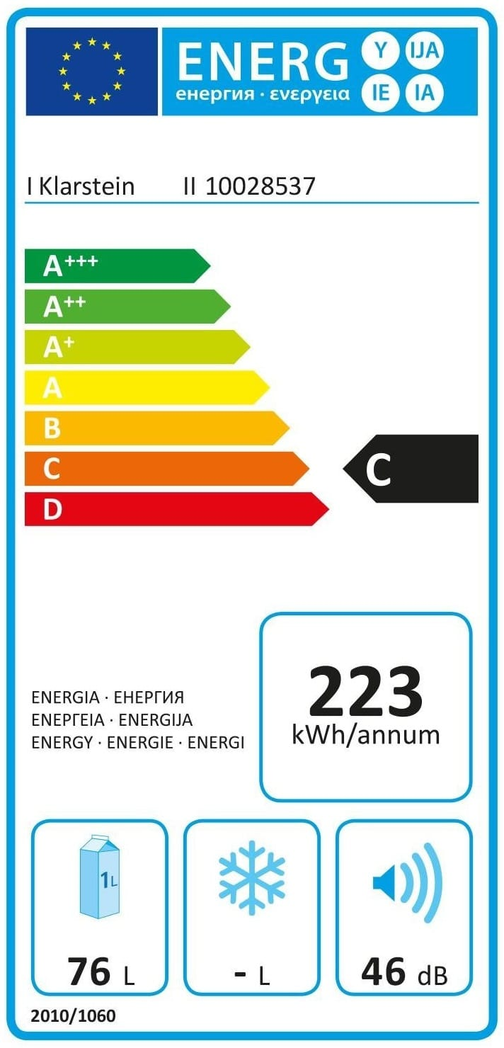 klarstein reserva 27d consommation